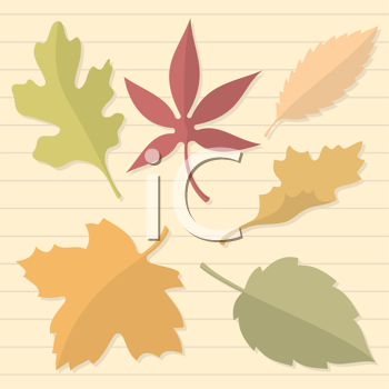 Royalty Free Clipart Image of an Autumn Leaf Lined Background