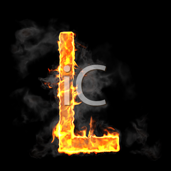 Royalty Free Clipart Image Of A Burning Letter A 453227 Iphotos Com