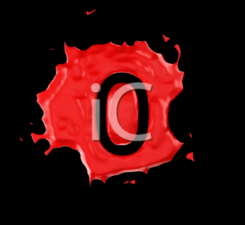 Royalty Free Clipart Image of a Red Number Zero in Paint