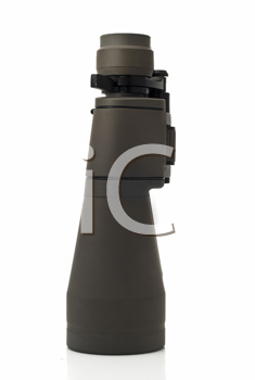 Side view of Binoculars (pair of glasses) over white background