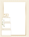 Royalty Free Clipart Image of a Border With a 50th Anniversary Cake