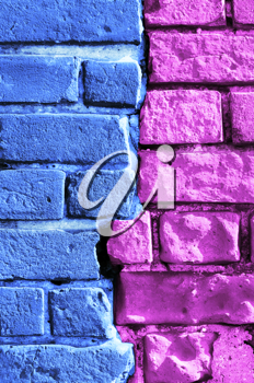 abstract bright multi-colored brick wall texture