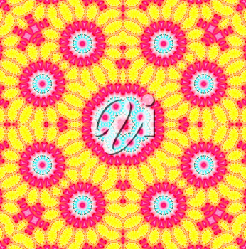 Bright pattern background with abstract flower