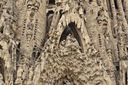 BARCELONA, SPAIN - SEPTEMBER 23, 2016: Detail of Nativity facade of Sagrada Familia church in Barcelona, Spain. Designed by Antoni Gaudi.