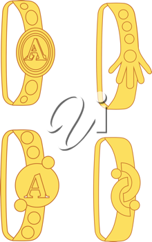 Royalty Free Clipart Image of Four Rings