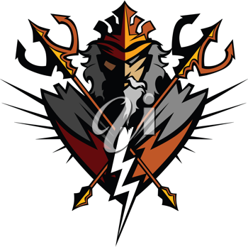 Royalty Free Clipart Image of a Titan