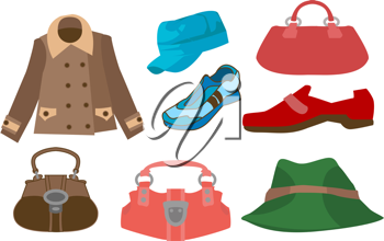 Royalty Free Clipart Image of Fashion Clothes