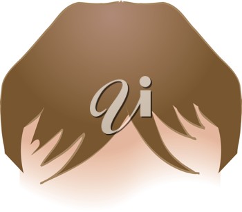 Royalty Free Clipart Image of a Woman's Hair