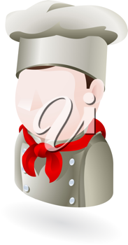 Royalty Free Clipart Image of a Chef Avatar