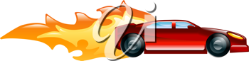 Royalty Free Clipart Image of a Fat Car