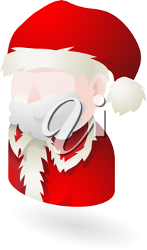 Royalty Free Clipart Image of an Illustration of Santa Clause