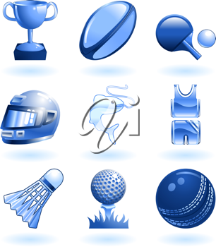 Royalty Free Clipart Image of Sports Icons