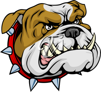 Royalty Free Clipart Image of a Bulldog