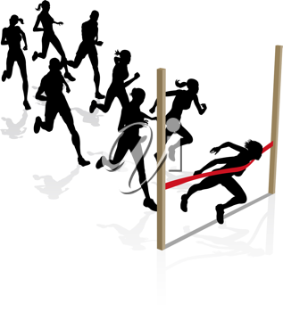 Royalty Free Clipart Image of Runners