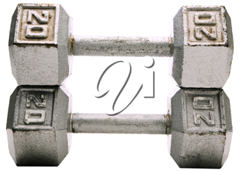 Pair of dumbbell isolated over white