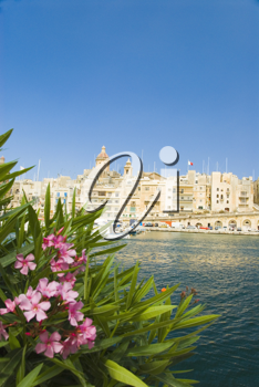 Buildings at the waterfront, Grand Harbor, Valletta, Malta