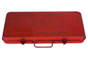 Close-up of a closed toolbox