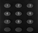 Close-up of buttons of a remote control