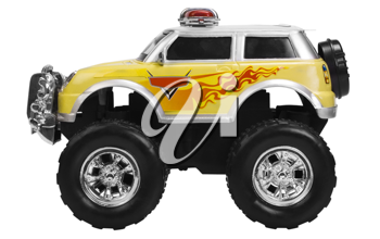 Close-up of a toy monster truck