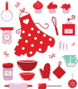 Royalty Free Clipart Image of a Set of Baking Items