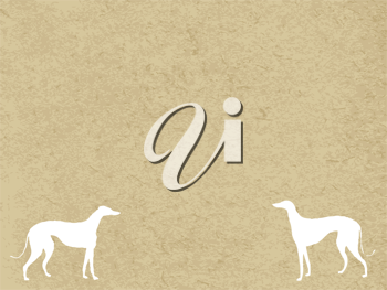 Royalty Free Clipart Image of Greyhounds