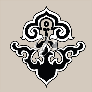 Royalty Free Clipart Image of an Ornamental Design