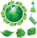 Royalty Free Clipart Image of Ecology Elements
