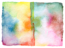 Abstract watercolor and acrylic painted background