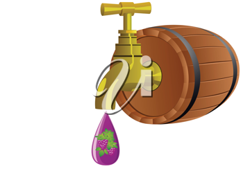 Royalty Free Clipart Image of a Crane and Barrel