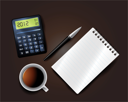 Royalty Free Clipart Image of Office or School Supplies