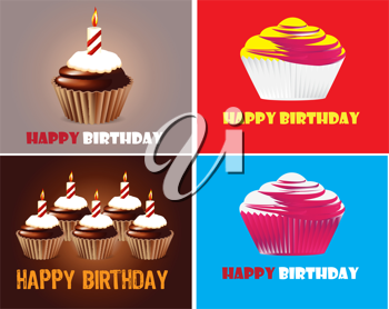 Royalty Free Clipart Image of Happy birthday Backgrounds