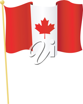 Vector illustration of the flag Canada