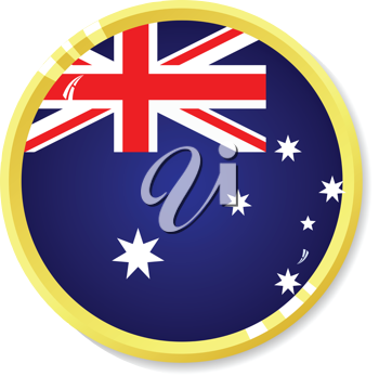 Vector  button with flag Australia