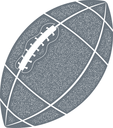 Rugby ball. Monochrome ball picture rugby texture. Vintage style. Stock vector illustration