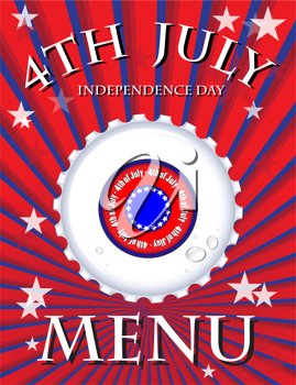 Royalty Free Clipart Image of an Independence Day Menu