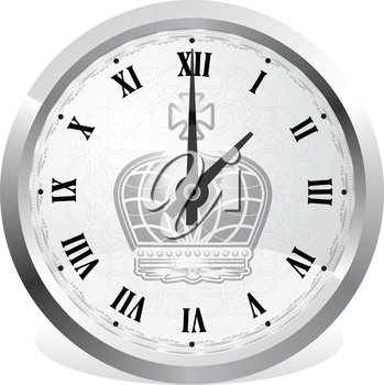 Royalty Free Clipart Image of an Old Clock