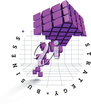 Arrow icon made of cubes. Vector illustration
