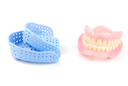Royalty Free Photo of Dentures and Acrylic Trays