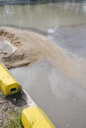 Royalty Free Photo of a Flooded Road Construction Site