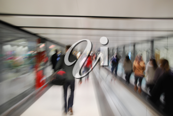 Royalty Free Photo of Passengers at an Airport