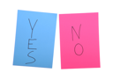Royalty Free Photo of Yes and No Post-It Notes