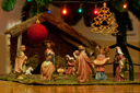 Royalty Free Photo of a Christmas Nativity Scene