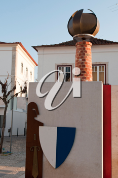 Royalty Free Photo of a Commemorative Landmark For 100 Years of Portuguese Republic in Our�m, Portugal