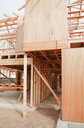 New residential construction home wooden framing