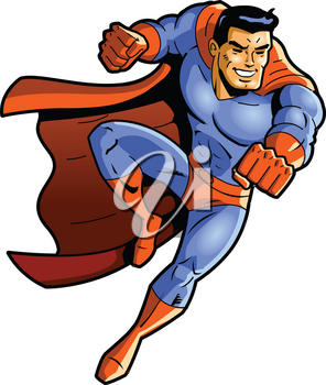 Superhero vector clipart punch