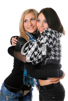 Royalty Free Photo of Two Girls Embracing