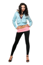 Royalty Free Photo of a Young Woman in Leggings