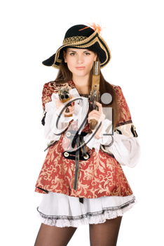Royalty Free Photo of a Woman in a Pirate Costume