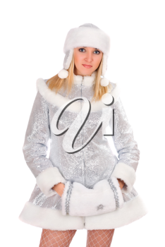 Royalty Free Photo of a Woman in a Winter Costume