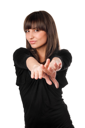 Royalty Free Photo of a Woman Pointing
